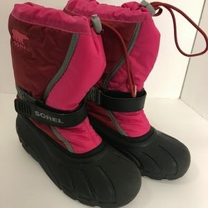 Sorel Girls Outdoor Winter Snow Boots Size 4 Pink